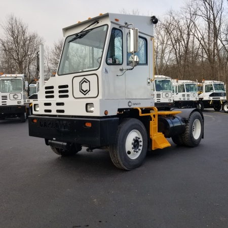 Capacity yard truck front view